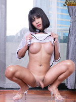 Baitoei is getting so wild! This time she's not only masturbating with her fingers but lso will fuck her ass with a dildo! Looking so hot in her outfit, Baitoei is so horny she can't help herself. Be sure...