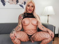 Demii D Best is back with a brand new scene produced by Radius Dark! One of our favorites returns looking better than ever and horny as always! Excited to show us her amazing curves once again, Demii walks in, shows off the amazing big boobs, gets rock had and strokes it just for you. Watch her enjoying herself in her smashing TGirls.XXX comeback!