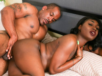 Rose is a sexy Florida girl who made her debut last summer on Black TGirls when she was discovered by Jack Flash. Today, she makes her Grooby comeback, but this time she returns to make her hardcore debut! Watch her sucking Smash Thompson's big dick and letting him fuck her tight hole until they both cum!