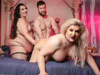 Today here at TGirl BBW we give you an incredible three-way session with the curvaceous hotties Nathalie Presley and Shemeatress getting all hot and steamy in this Buddy Wood produced action! Watch them get their ass fucked really hard with none other than King Epicleus!