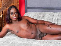 A few months ago, sexy girl named Raven Mystique was introduced to the world by Jack Flash on Femout. Today is her graduation day! She makes her Black TGirl debut with a hot feature in our