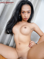 Nid is simply adorable, with a sweet face and a gorgeous body. With her legs spread wide open, she's simply telling you to come and join her in the room as she jerks off her rock hard and shoots her cum right in front of Sampson's lenses.