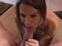 Horny Ryley just can't help pleasing this rock hard cock and she gets fucked in her mouth and ass.
