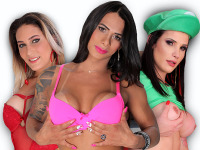 Bellatrix Fontes, Rosy Pinheiro, Victoria Carvalho : It's about that time again. We bring you 3 sexy ass girls that love showing off for the camera. Victoria Carlvaho, Rosy Pinheiro and Bellatrix all together in 1 update. Let's get right to the action folks.